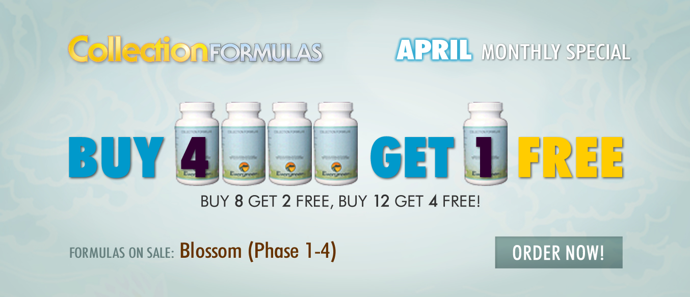 April Buy 4 Get 1 Free Monthly Special