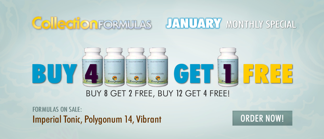 January Buy 4 Get 1 Free Monthly Special
