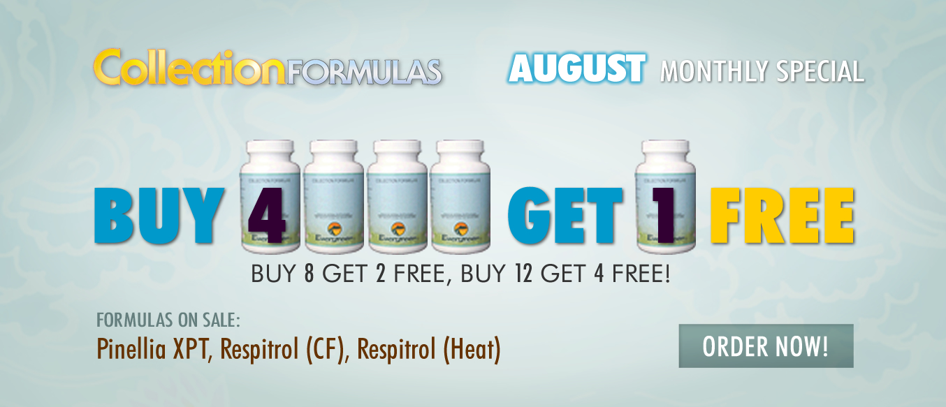 August Buy 4 Get 1 Free Monthly Special
